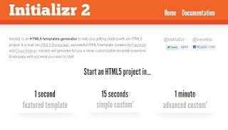 Initializr generador de plantillas HTML5