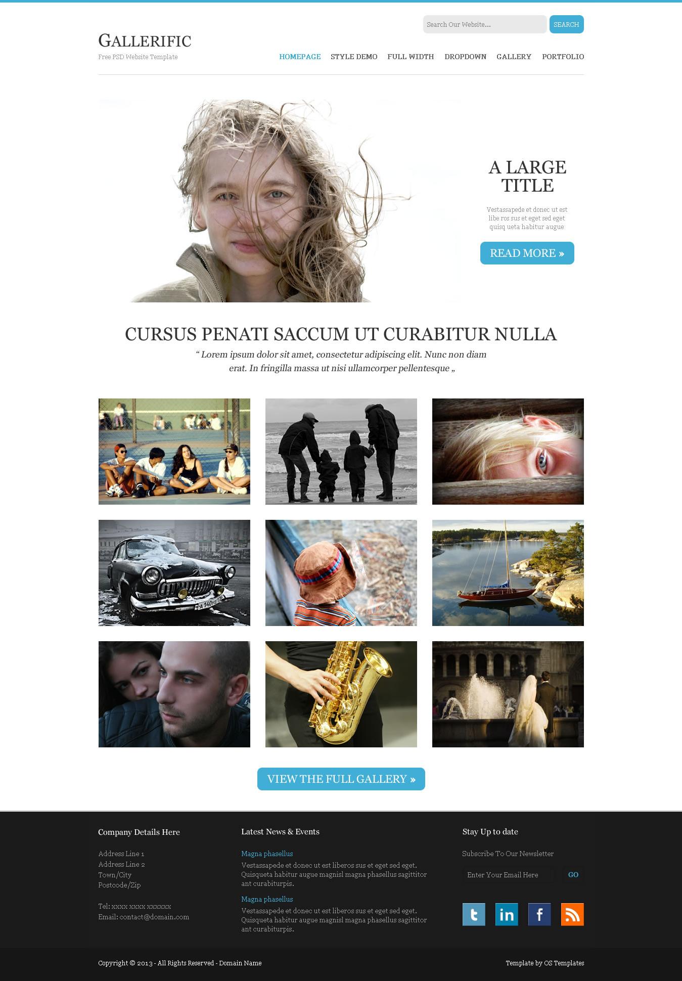 Plantillas psd portfolio (Photoshop) - recursos WEB & SEO