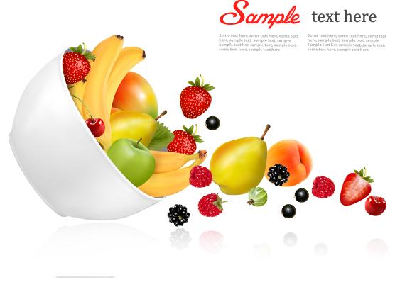 vectores frutas