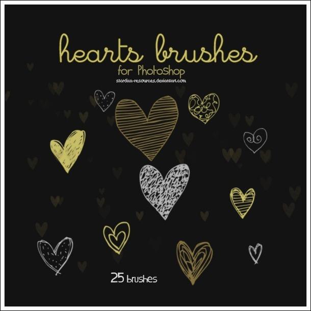 Pinceles de corazones para San Valentín