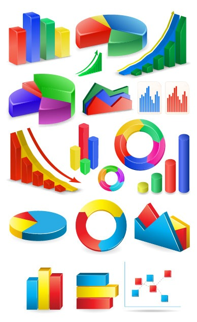 gráficos estadísticos vectorizados