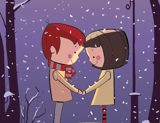 Vectores de parejas de enamorados gratis