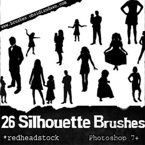 Pinceles de siluetas de personas en Photoshop