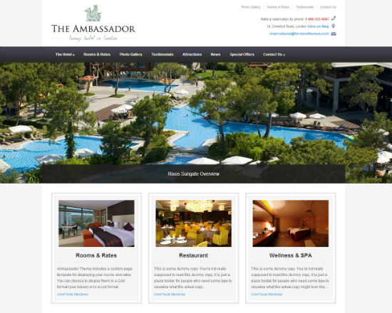 Temas de hoteles para wordpress