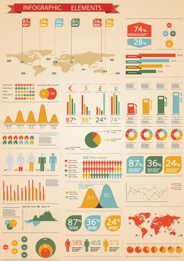 Infografías en vector