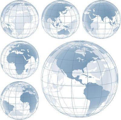 Vectores de globos terráqueos gratis