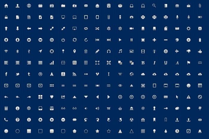 Iconos gratis para utilizar en diseño web