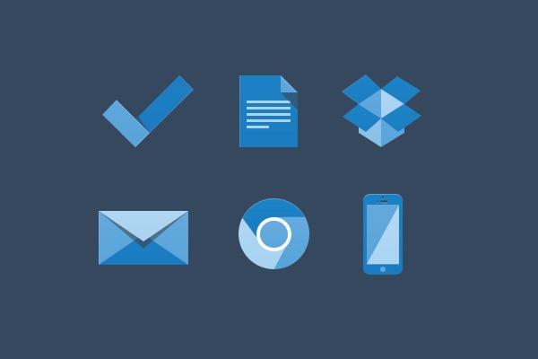 Iconos para diseños planos (flat design)