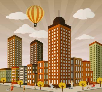 Vectores edificios gratis