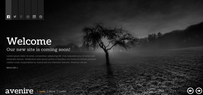 Página web en construcción en html