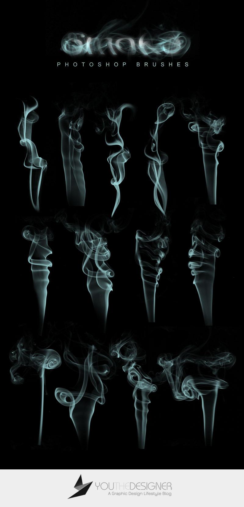 pinceles de humo photoshop