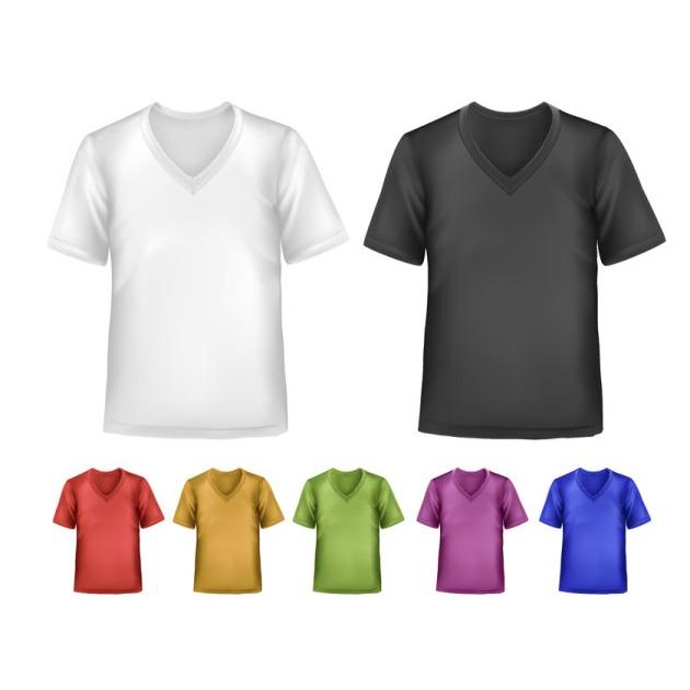 Camisetas blancas para diseñar  en vector y gratis