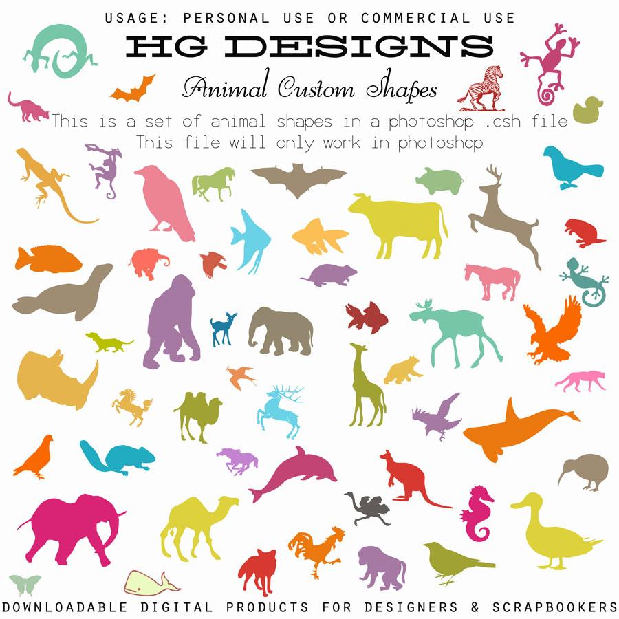 Formas personalizadas de animales