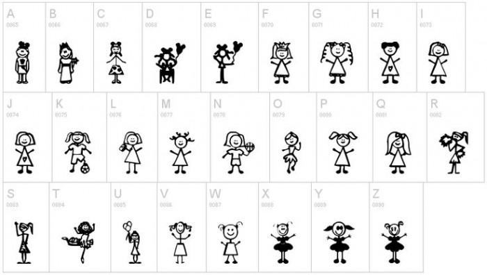 Fuentes de iconos infantiles gratis