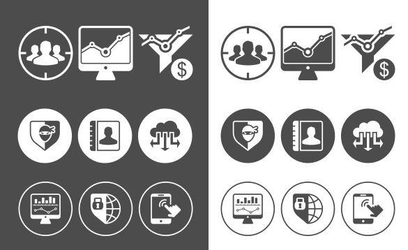 Iconos de marketing y SEO