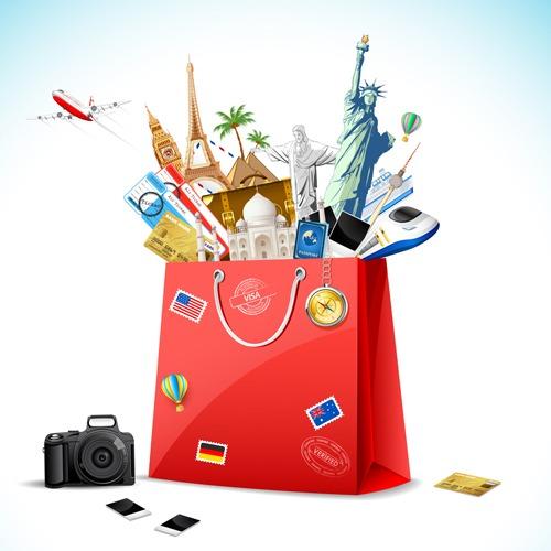 Fondos de viajes en vector