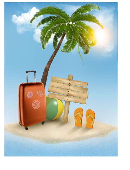 Fondos viajes vector
