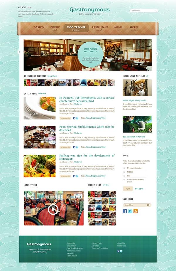 Plantilla psd gratis para una web de un restaurante
