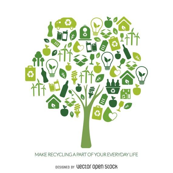 Vectores ecologicos gratis Illustrator
