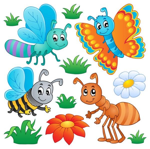 dibujos de insectos animados