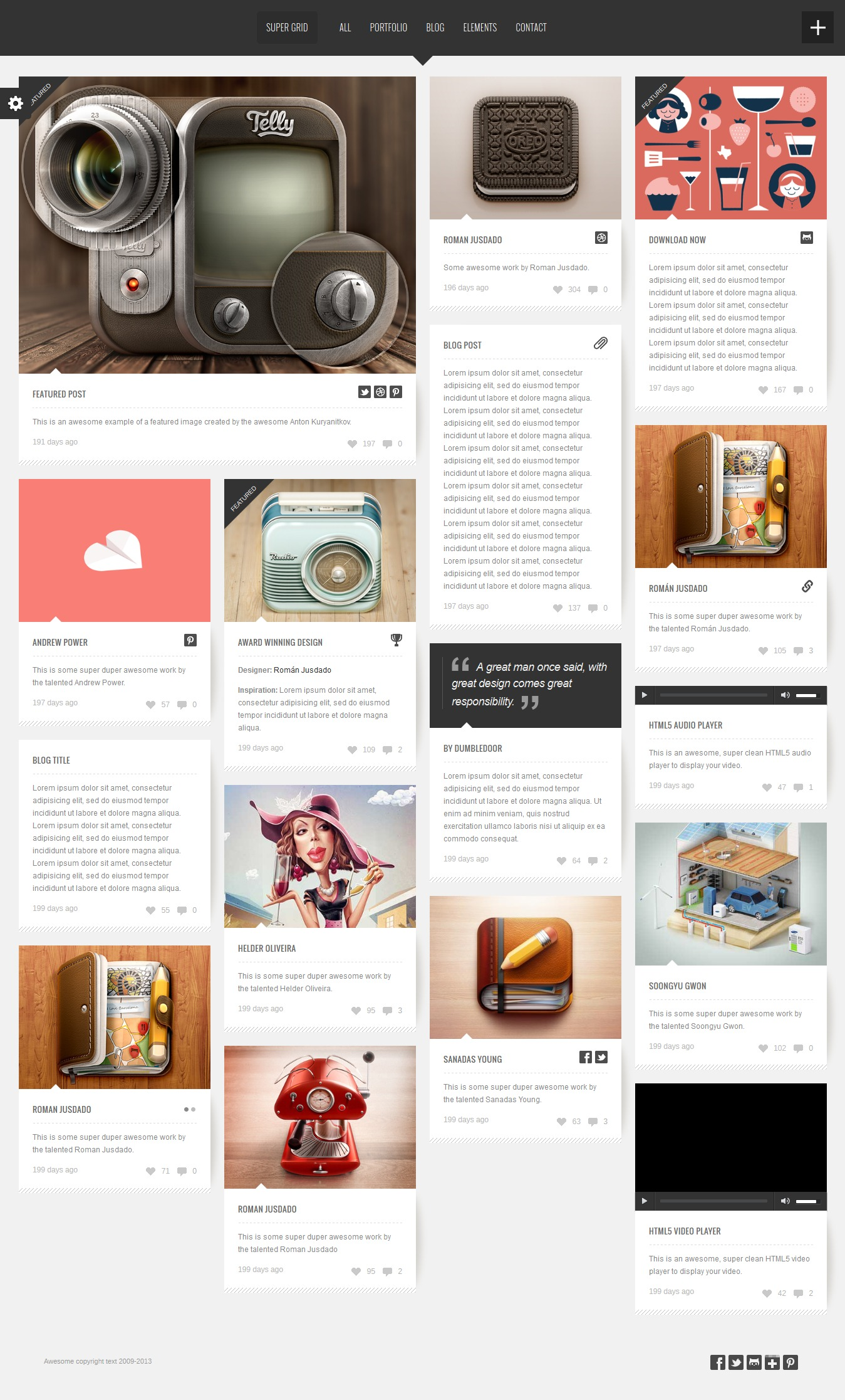 Interesantes temas wordpress estilo Pinterest