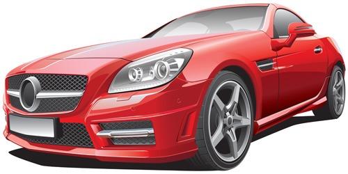 coche en vector rojo
