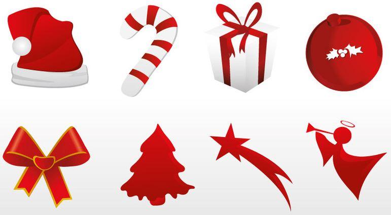Iconos navideños en vector gratis