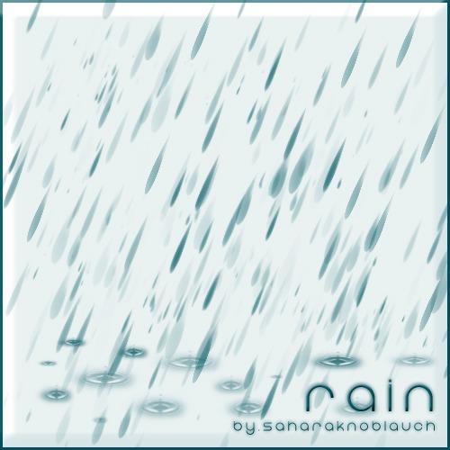pinceles de lluvia