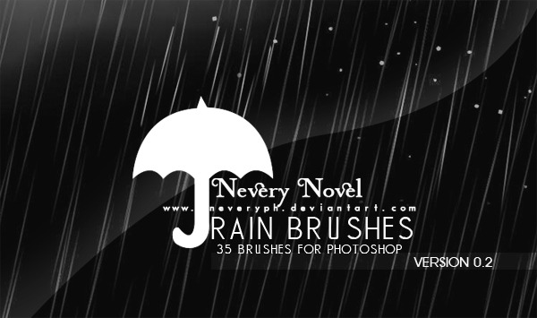 35 pinceles lluvia photoshop gratis