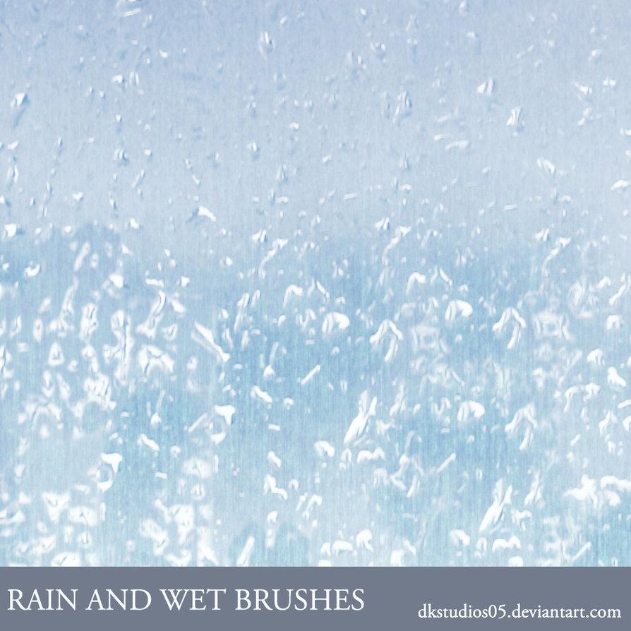 pinceles gratis para photoshop de lluvia