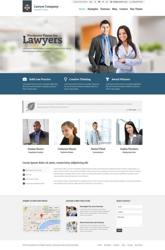 Interesantes temas WordPress para abogados