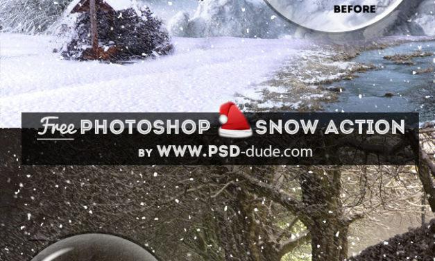 Crea un efecto nieve con una acción en Photoshop