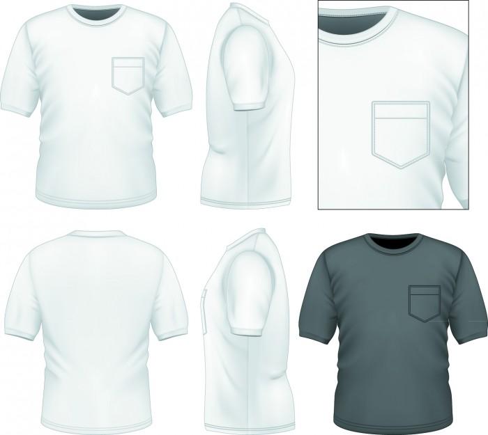 Camisetas en vector