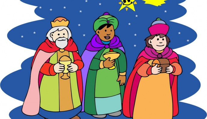 Reyes Magos en vector gratis