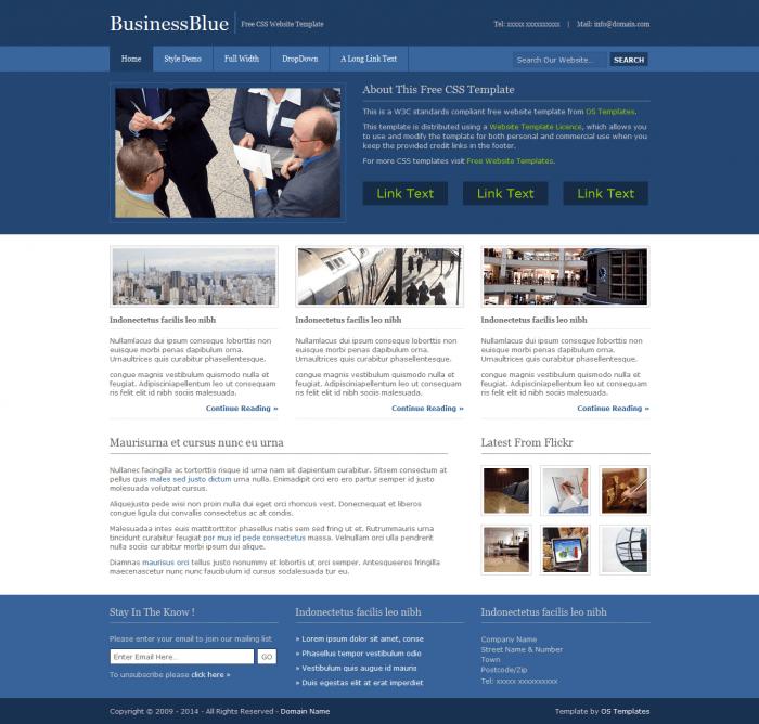 Plantillas web para abogados en psd gratis