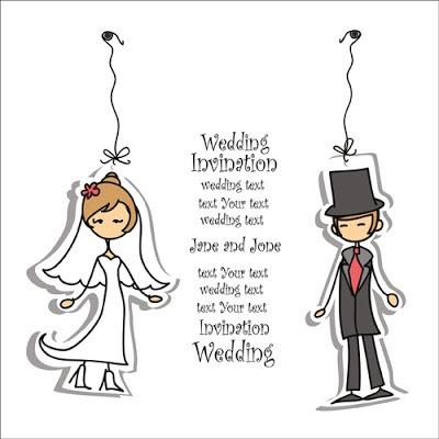 Vectores de invitaciones de boda para descargar gratis