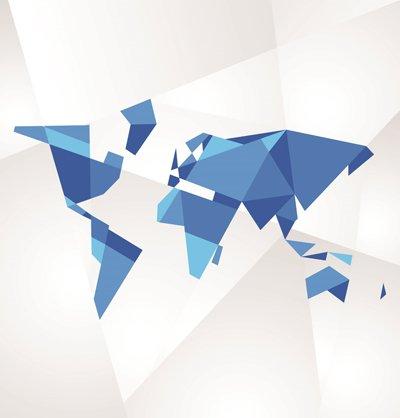 Vectores de mapas mundi gratis