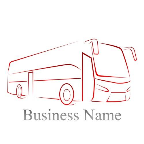 silueta de autobus en vector