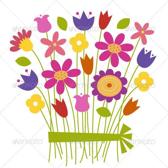 vectores-flores