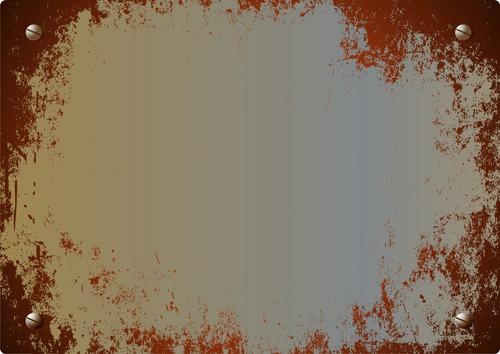 Fondos de metal oxidado en vector