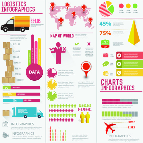 Elementos para infografías de negocios en vector