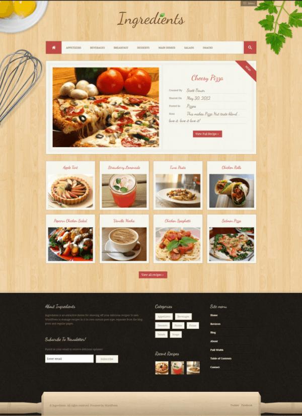 Temas wordpress de blogs de recetas de cocina