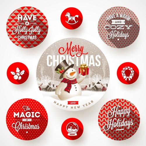 Vectores de elementos de navidad