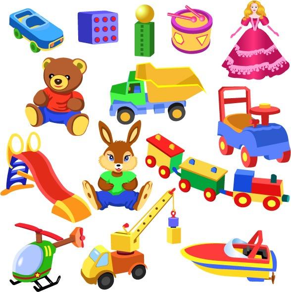 vectores de juguetes de niños