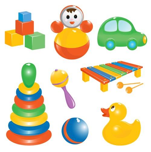 Vectores de juguetes de niños gratis