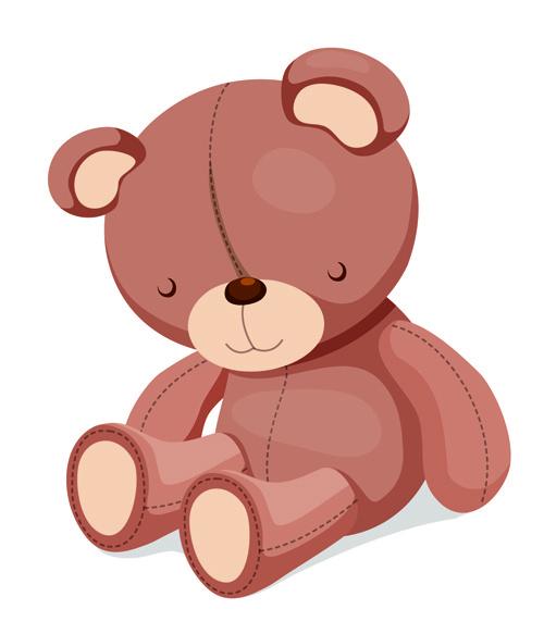 Vectores de osos infantiles gratis