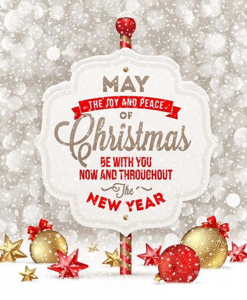 vectores postales de navidad 2014