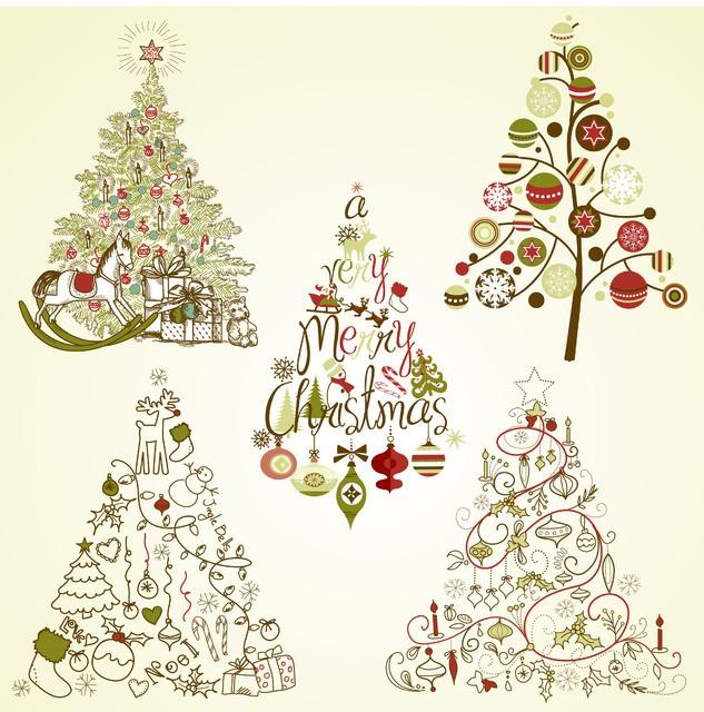 affordable dibujos de arboles de navidad with dibujos arboles de navidad - Dibujos Arboles De Navidad