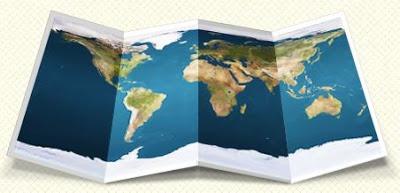 Mapas mundi en psd gratis