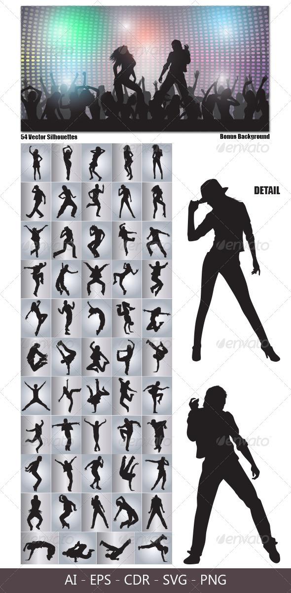 siluetas-bailando